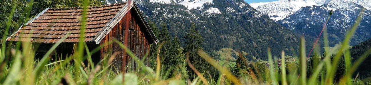 Allgäu, Bad Oberdorf, Abstieg vom Imberger Horn Richtung Hinterstein